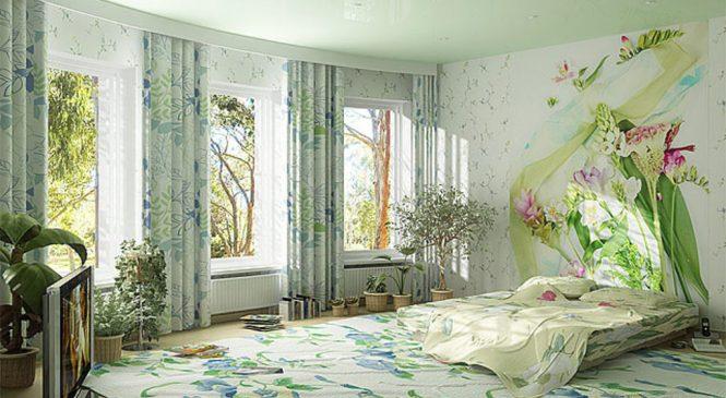 Весенний интерьер в спальне