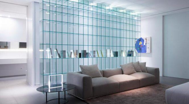Непривычные области использования стекла в интерьерах