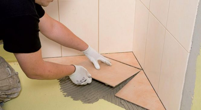 Подготовка поверхностей при укладки керамической плитки.