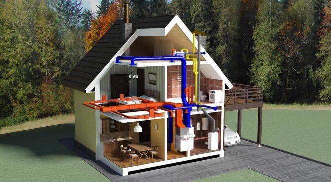 Как подключить отопление в частном доме и коттедже